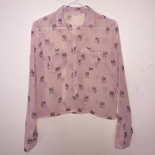 aeropostale blouses 10 aeropostale tops sheer pink wolf blouse from s
