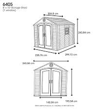 Casita Plans For Backyard Amazon Com Lifetime 6405 Outdoor Storage Shed With Window
