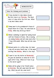 grade 3 maths worksheets 9 3 problem solving with calendars