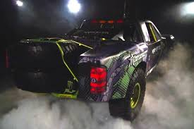 bj baldwin monster energy trophy truck 2 rear quarter