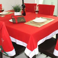 Christmas Table Decoration Red by Christmas Table Cloth Xmas Dinner Decor Red Santa Tablecloths