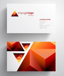Abstract Business Cards Free Abstract Triangle Business Card Template Vector Titanui