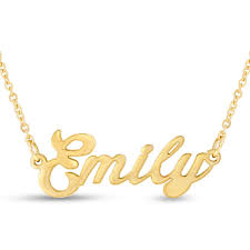 gold name plate necklace emily nameplate necklace in gold superjeweler