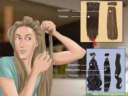 how to braid extensions into your own hair 3 ways to apply hair extensions wikihow