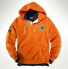 men u0027s classic ralph lauren fleece hoodie in orange cheap polo
