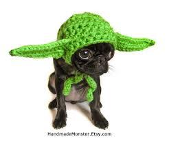 Halloween Costumes Hats Star Wars Dog Hat Costume Yoda Inspired Pet Geekery Nerdy Costumes