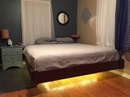 bedroom platform bed floating floating bed frame diy bed