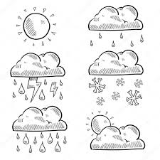 variety of clouds weather sketch u2014 stock vector lhfgraphics