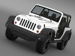 jeep wrangler rubicon jeep wrangler rubicon 10th anniversary 2014 3d model max obj 3ds