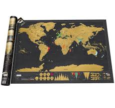 Large World Map Poster Scratch Off Deluxe Edition Travel World Map Large Lazada Malaysia