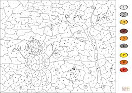 Halloween Printables Free Coloring Pages Halloween Scene Color By Number Free Printable Coloring Pages