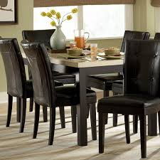 amazing black wooden dining table with glasses on top feat classic