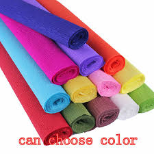 where to buy crepe paper 5pcs lot 250 50cm roll diy flower gift decoration wrapping