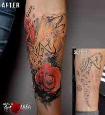 cover up tattoo rose by artmakia on deviantart