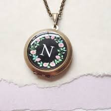 monogram locket necklace monogram locket necklace giveaway by violette iris