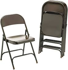 Folding Garden Chairs Argos Amazon Com Virco 16213k Metal Folding Chairs Bronze Four Carton