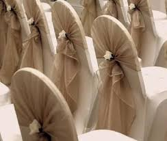 used chair covers new wedding chair back sash and white flower accent handmade