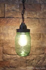 mason jar pendant light domestic imperfection