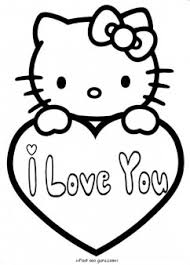 kitty valentines coloring pages kids printable