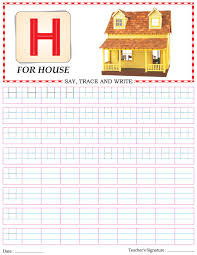 capital letter writing practice worksheet alphabet h download