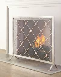 giallastro quartz accent fireplace screen