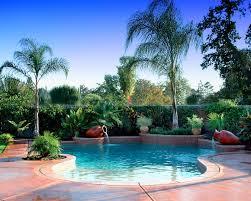 outdoor u0026 garden cozy concrete flooring and tropical landscaping