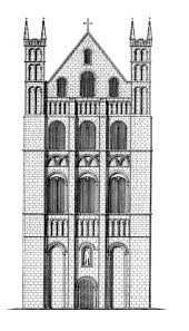 medieval norwich cathedral plans and drawings dehio plate 268 transept exterior