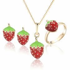 kids earrings online shop baby kids jewelry sets ring earrings pendant necklace