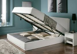 aden high gloss ottoman storage bed u2013 white