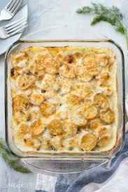 thanksgiving scalloped potatoes light creamy dill scalloped potatoes recipe