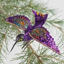 beaded hummingbird clip ornaments set of 4 world market