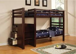 Twin Bunk Bed With Desk And Drawers Bedroomdiscounters Bunk Beds Wood