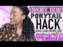 crochet braid ponytail crochet braid ponytail hack thicker hair no braiding thin