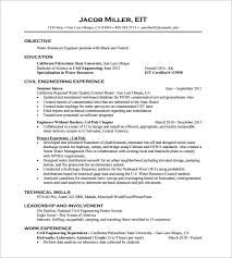 civil engineering resume resume example