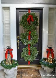 Outside Home Christmas Decorating Ideas Front Porch Christmas Decorating Ideas Source Marthastewart Com