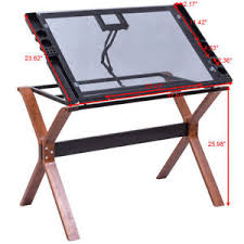 Drafting Table Glass Adjustable Drafting Table Station Drawing Desk Glass Top Easel