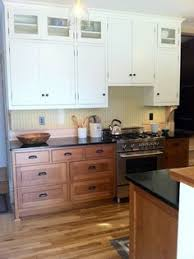 Upper Kitchen Cabinets Walnut Base Cabinets And White Upper Cabinets Google Search