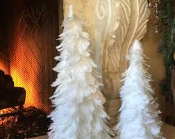 white feather tree white tree feather decorations