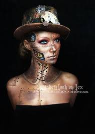 Steampunk Halloween Costumes Steampunk Makeup Guide Special Fx Gold Robot Video