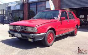 romeo giulietta 1 8 1982 4d sedan 5 sp manual 1 8l twin carb in