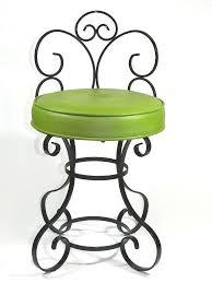 Metal Vanity Stool Wrought Iron Vanity Chair
