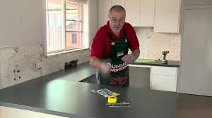 How To Hang Kitchen Cabinet Doors How To Install Handles On Kitchen Cabinets Diy At Bunnings Youtube