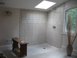 Bathroom With Open Shower Smart Design Open Showers Plain Open Shower Home Designing