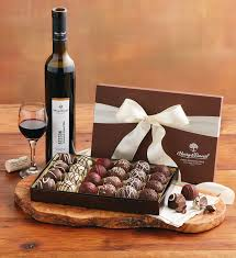 wine and chocolate gift basket wine and truffles gift harry david
