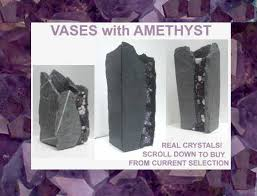 Stone Vases Handmade Stone Vases With Amethyst Crystals