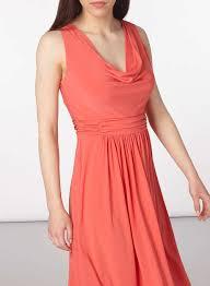 petite coral cowl neck dress midi dresses dresses dorothy