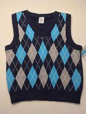 baby boy s v neck sweater vest sz12m ebay