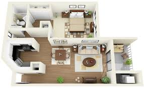 Floor Plan Apartment Design 1 Bedroom Apartment House Plans