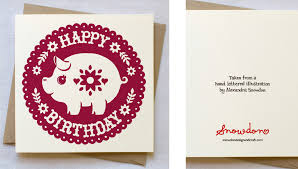 little pig birthday card snowdon design and craft