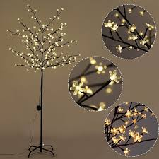 costway cherry blossom led tree light floor l